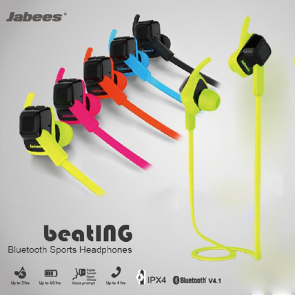 Jabees beatING Bluetooth Sports Headphones