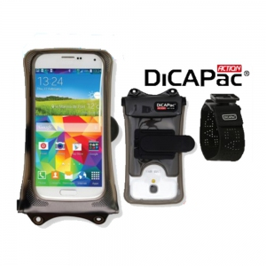DiCAPac Action Kit DA-C1 with Clip, Armband, Strap for Galaxy S5, iPhone 8