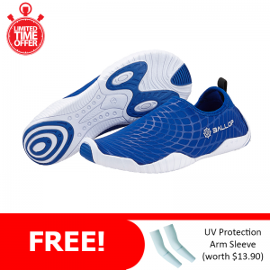 Ballop Skin Shoes Active Series Line (Spider Blue) FREE: Arm Sleeve