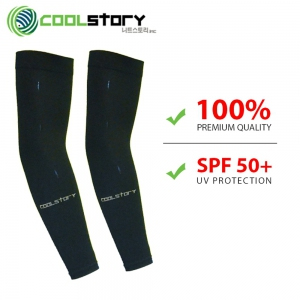 Cool Story Cooling UV Protection Arm Sleeves (Black Colour)