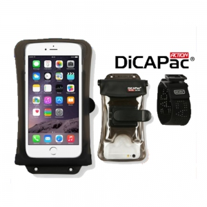DiCAPac Action Kit DA-C2 with Clip, Armband, Strap for Note 5, iPhone 8+